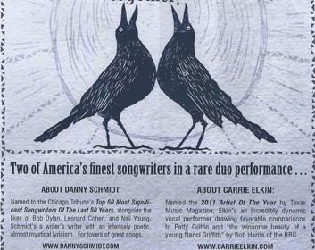 Danny Schmidt and Carrie Elkin, 6th October 21012.